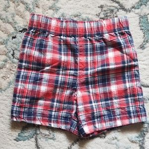 Carter's red white and blue plaid shorts size 2t